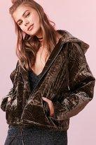Silence & Noise Silence + Noise Geo Quilted Velvet Hooded Jacket