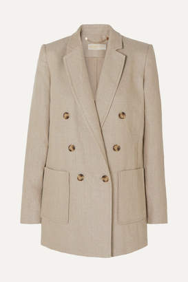 MICHAEL Michael Kors Double-breasted Linen Blazer - Neutral