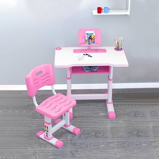 """Isabelle & MaxTM Norma Children Study 27.5"""" Writing Desk and Chair Set Isabelle & Max Color: Pink"""