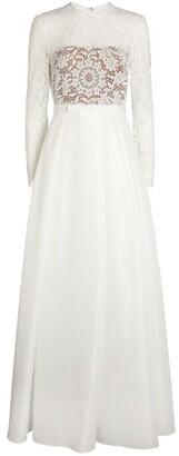 Self-Portrait Bridal Guipure Lace Maxi Dress
