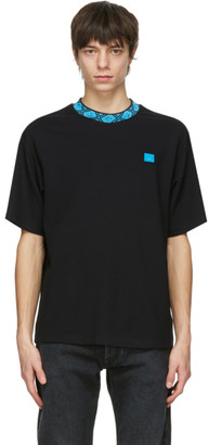Acne Studios Black and Blue Patch T-Shirt