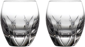 Waterford Tonn Set of 2 Double Old Fashioned Glasses