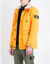 Stone Island David Shearling-trim Quilted Coat