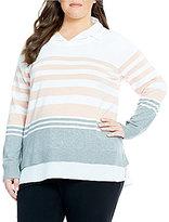 Calvin Klein Plus Sweater with Shirttail Hem