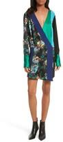 Diane von Furstenberg Women's Mixed Media Crossover Silk Dress
