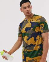 Nike Training camo t-shirt in brown