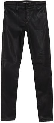 J Brand 620 Coated Mid Rise Skinny Jeans
