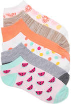 Kelly & Katie Women's Watermelon No Show Socks - 6 Pack -Light Pink