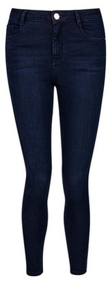 Dorothy Perkins Womens Petite Rich Blue Shape And Lift Jeans, Blue