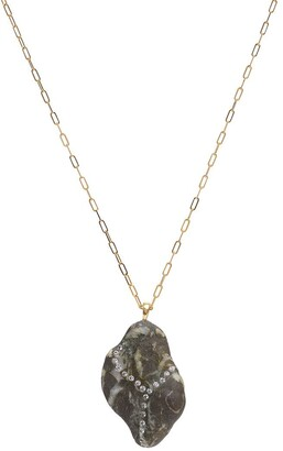Cvc Stones 18kt yellow gold diamond Grise necklace