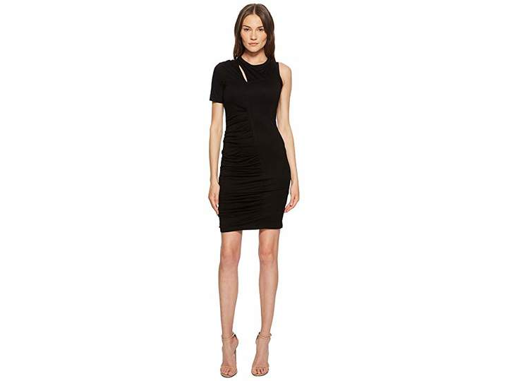 Yigal Azrouel One Sleeve Dress with Rouching