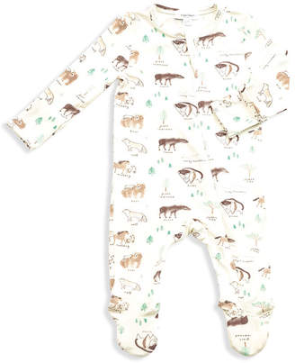 Angel Dear West Wild Print Zipper Footie Pajamas, Size Newborn-9 Months
