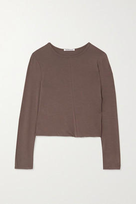 Georgia Alice Twisted Stretch-jersey Top - Light brown