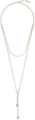 Alexander McQueen Silver Double Chain Skull Necklace