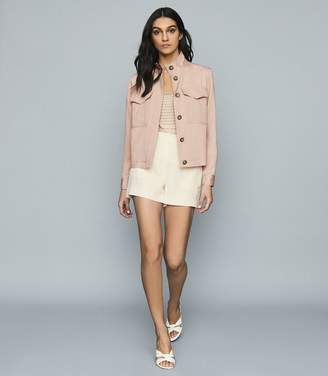 Reiss IVES TWIN POCKET UTILITY JACKET Pale Pink
