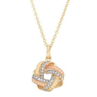 10k Gold 1/8 Carat T.W. Love Knot Pendant