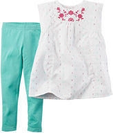 Carter's Embroidered Yoke Top and Jeggings Set - Baby Girls newborn-24m
