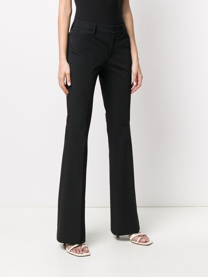 Thumbnail for your product : Pt01 Mid Rise Flared Trousers