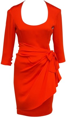 Christian Lacroix Red Silk Dress for Women Vintage