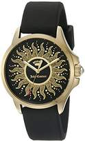 Juicy Couture Women's 'Jetsetter' Quartz Gold-Tone and Silicone Casual Watch, Color:Black (Model: 1901429)