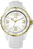 Haurex H2X Women's SW382DWG Reef Stones Luminous Water Resistant White Soft Rubber Watch