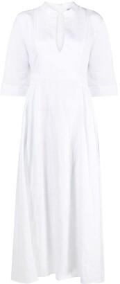 Eleventy V-neck linen maxi dress
