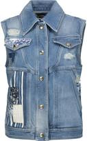 Just Cavalli Distressed patchwork denim vest