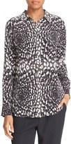 Equipment Women's Slim Signature Cheetah Print Silk Shirt