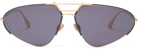Christian Dior Diorstellaire5 Sunglasses - Womens - Black Gold