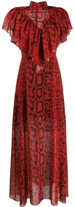 Preen by Thornton Bregazzi Kim python printed maxi dress
