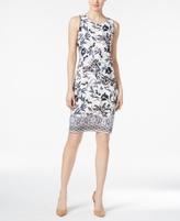 Charter Club Petite Floral-Print Sheath Dress, Created for Macy's