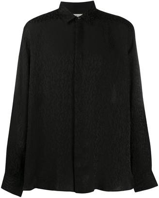 Saint Laurent Jacquard-Woven Shirt