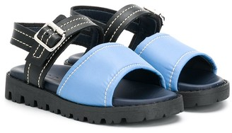 Marni Two-Tone Buckled Sandals