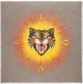 Gucci Angry cat print modal silk shawl - men - Silk/Modal - One Size