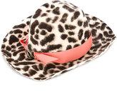 Federica Moretti contrast trim hat - women - Cotton/Viscose/Rabbit Felt - One Size