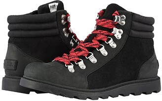 Sorel Ainsley Conquest (Black Full Grain Leather) Women's Lace-up Boots