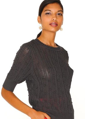PepaLoves Pointelle Short Sleeve Sweater - S