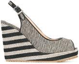 Jimmy Choo Prova 120 sandals - women - Cotton/Calf Leather/Leather/rubber - 36