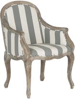 Safavieh Gray & Bone Stripe Oak Arm Chair