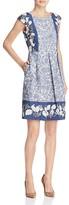 Max Mara Canneti Floral Print A-Line Dress