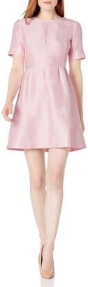Helene Berman Women's Pleated Fit and Flare Dress