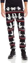 Alex Stevens Men's Polar Bear Pair Ugly Christmas Jogger Pant
