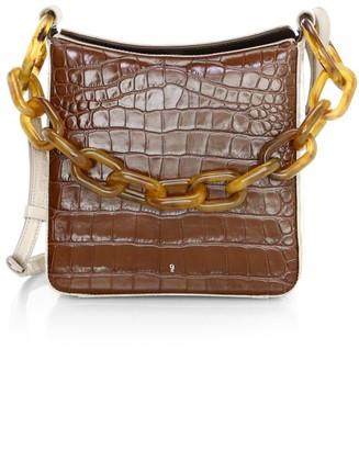 Gu De Duna Croc-Embossed Leather Crossbody Bag