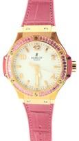 Hublot Tutti Frutti Big Bang 18K Rose Gold Factory Set Pink Sapphire Baguette Watch