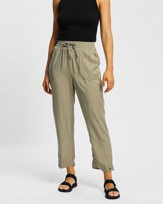 Rusty Women's Green Pants - Bounds Slouchy Pants - Size 6 at The Iconic