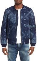 Scotch & Soda Men's Blauw Bandana Print Bomber Jacket