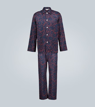 Derek Rose Ledbury printed cotton pajama set