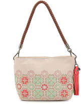 The Sak Women's Indio Leather Shoulder Bag -Cream