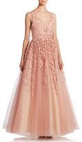 Basix II Floral Applique Gown