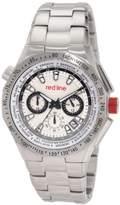 Redline Red Line RL-50014-22S – Watch Men – Quartz – Chronograph – Speed Meter Silver Stainless Steel Bracelet